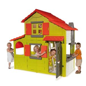 Двухэтажный детский коттедж
