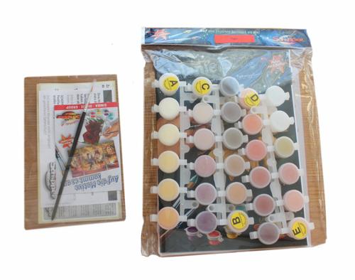 Раскраски по номерам 2 пакетика с красками кисточкой контрольный образец для пробы красок а также инструкция на русском языке с полезными советами
