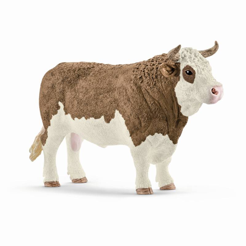 Купить Фигурка - Симментальский бык, размер 14 х 5 х 8 см., Schleich