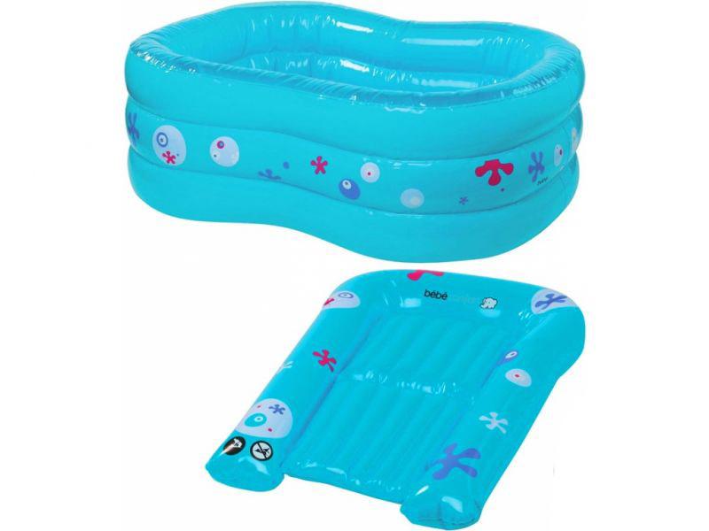 Набор - надувная ванночка + надувной пеленальный коврик в чехлеВанночки для купания<br>Набор - надувная ванночка + надувной пеленальный коврик в чехле<br>