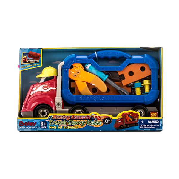 Грузовик - Смелый гонщик с машинками или инструментамиДетские мастерские, инструменты<br>Грузовик - Смелый гонщик с машинками или инструментами<br>