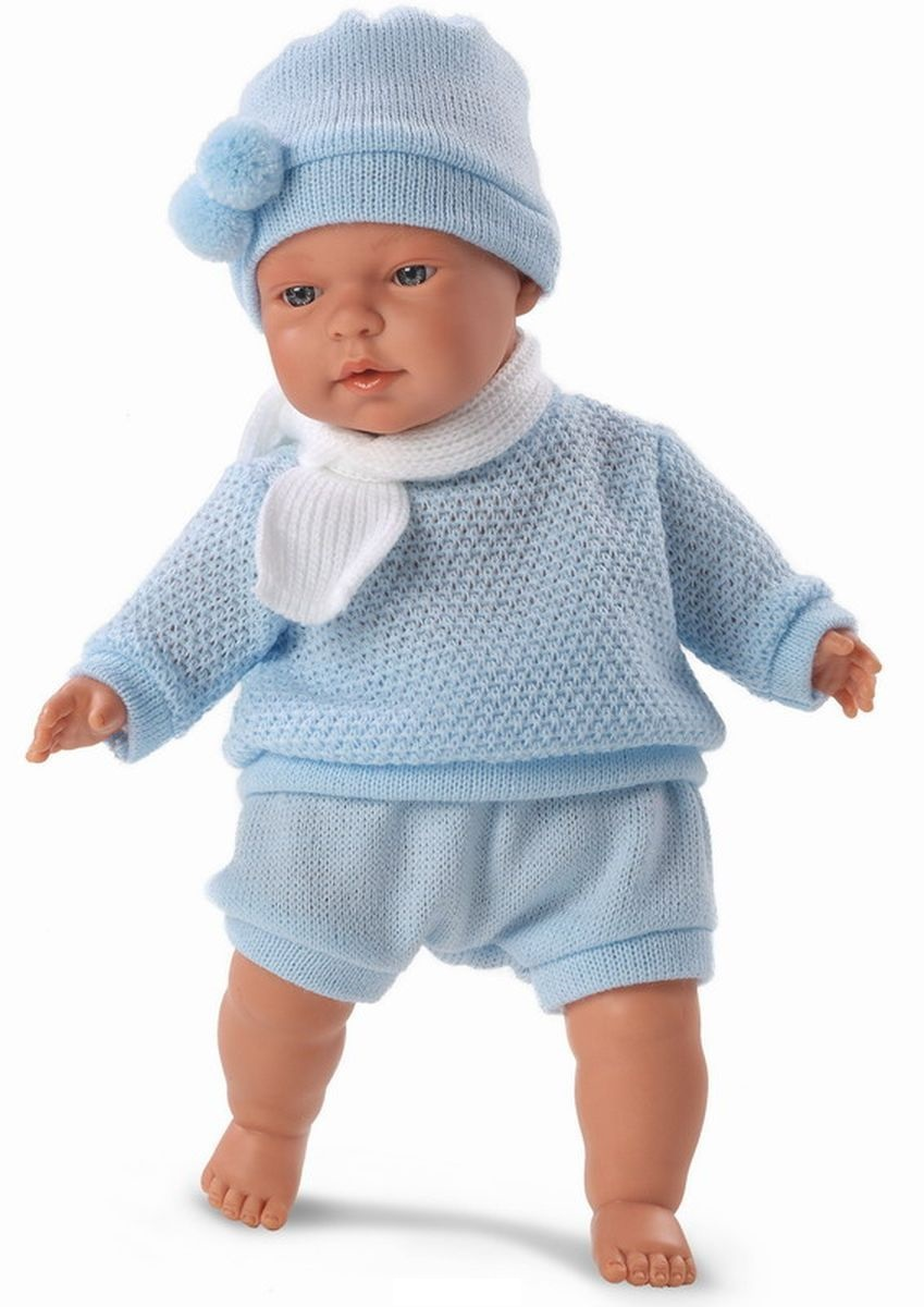 Кукла Павел в голубом костмчике, 33 см.Испанские куклы Llorens Juan, S.L.<br>Кукла Павел в голубом костмчике, 33 см.<br>