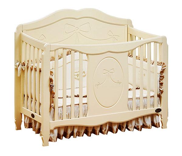 Кроватка для новорожденных Valencia, цвет IvoryДетские кровати и мягкая мебель<br>Кроватка для новорожденных Valencia, цвет Ivory<br>