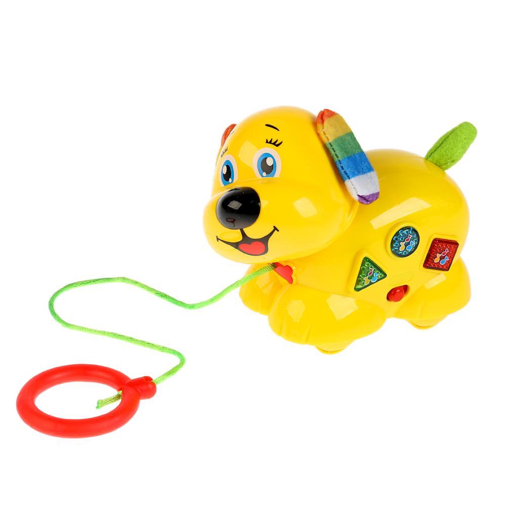 Купить Обучающая игрушка собака-каталка Барто песни на стихи А. Барто, текстильные элементы, Умка