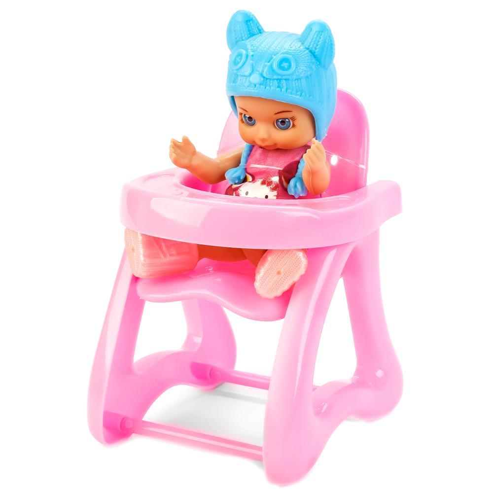 Пупс со стулом для кормления - Hello Kitty, 12 см фото