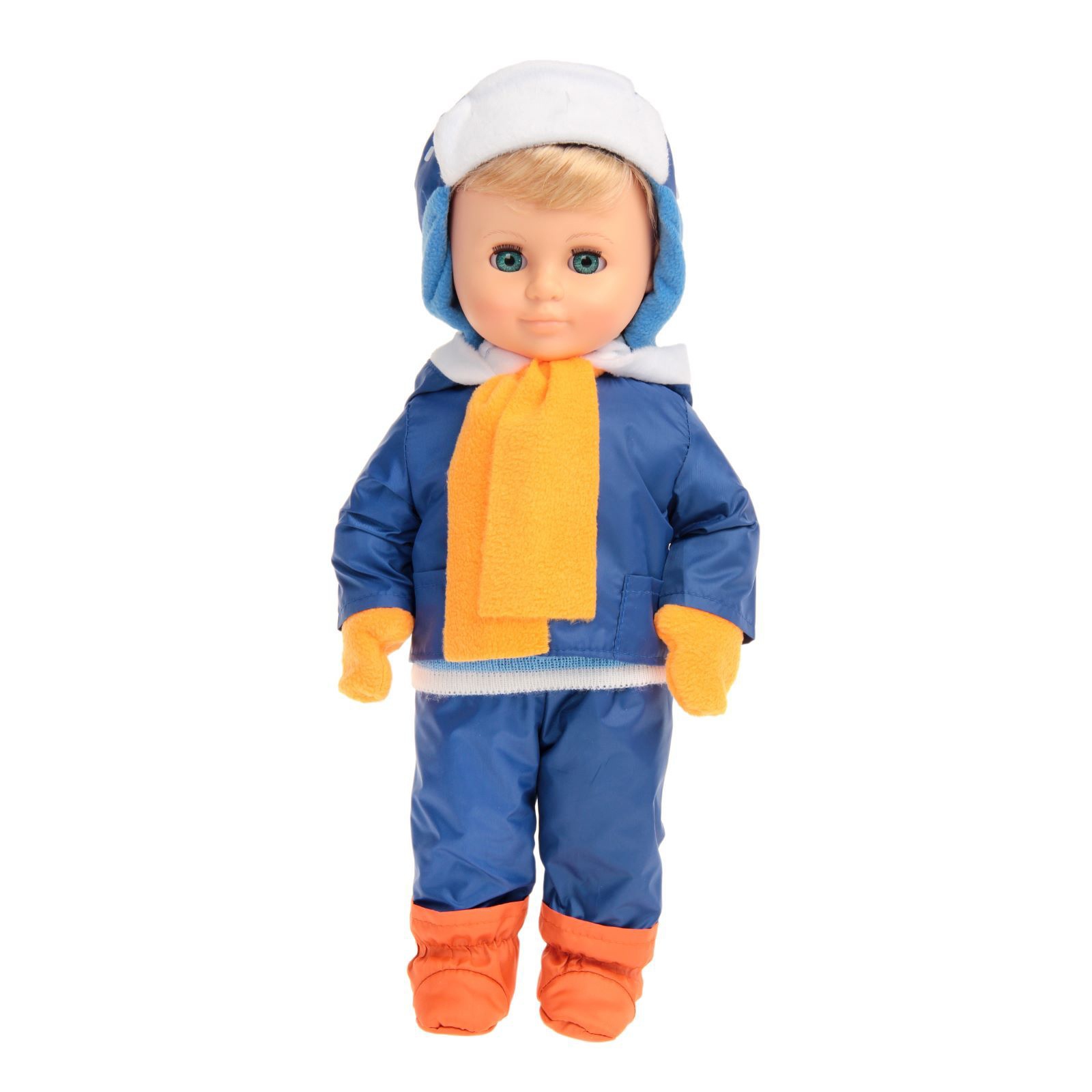 Кукла - Мальчик дидактический с комплектом сезонной одежды, 43 см.Русские куклы фабрики Весна<br>Кукла - Мальчик дидактический с комплектом сезонной одежды, 43 см.<br>