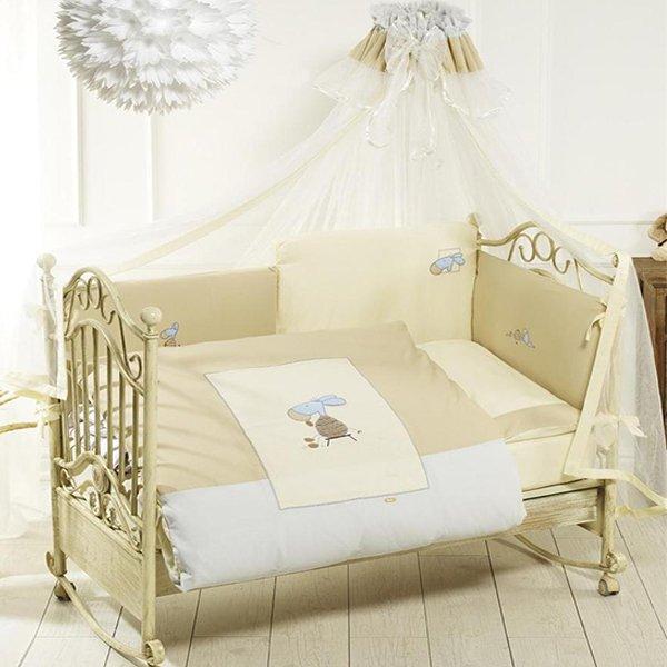 Комплект постельного белья Lazy Donkey, 6 предметов, бежевыйДетское постельное белье<br>Комплект постельного белья Lazy Donkey, 6 предметов, бежевый<br>