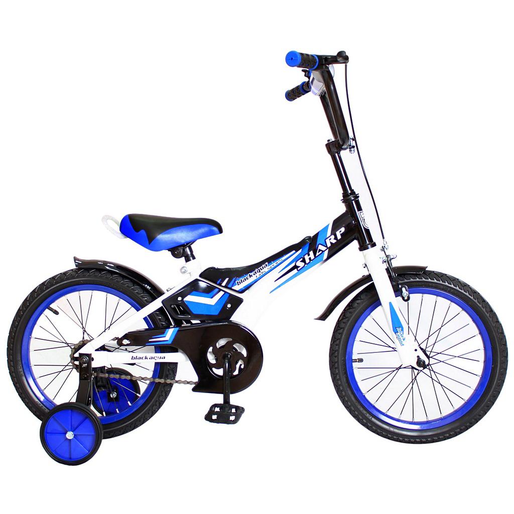 Двухколесный велосипед Sharp, диаметр колес 16 дюймов, синийВелосипеды детские<br>Двухколесный велосипед Sharp, диаметр колес 16 дюймов, синий<br>