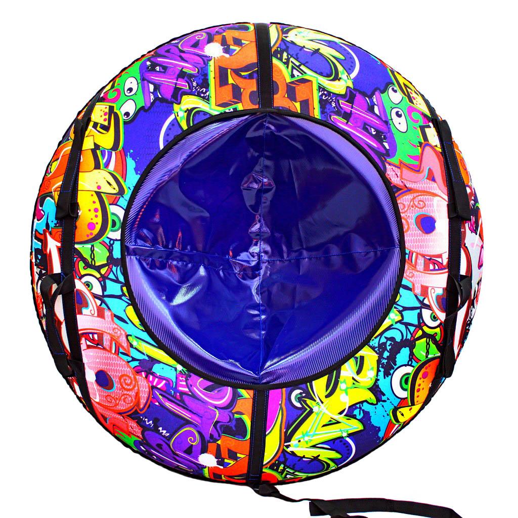 Санки надувные Тюбинг - Оксфорд Graffiti, автокамера, диаметр 100 см.