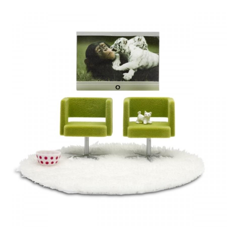 Набор мебели для домика Стокгольм - Домашний кинотеатрКукольные домики<br>Набор мебели для домика Стокгольм - Домашний кинотеатр<br>
