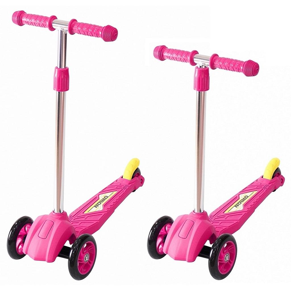 Детский трехколесный самокат розового цвета RT ORION MINI 164в2Трехколесные самокаты<br>Детский трехколесный самокат розового цвета RT ORION MINI 164в2<br>