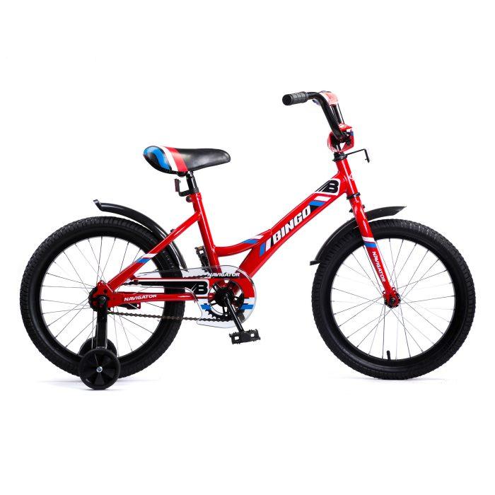 Купить Детский велосипед Navigator Bingo красный, колеса 18 , стальная рама, стальные обода, ножной тормоз