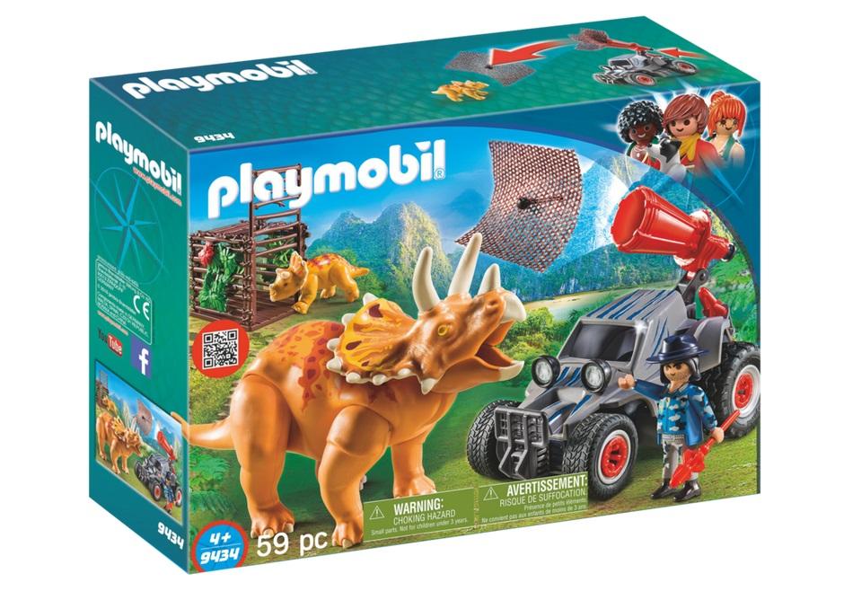 Купить Игровой набор из серии Динозавры: Вражеский квадроцикл с трицератопсом, Playmobil