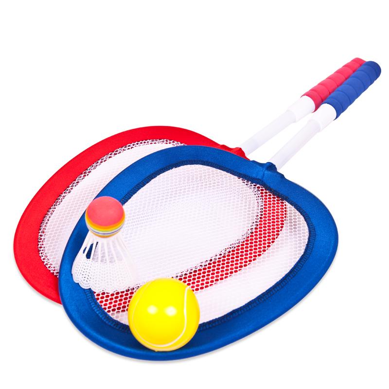 Набор - Бадминтон и теннис, 4 предмета, в сеткеБаскетбол, бадминтон, теннис<br>Набор - Бадминтон и теннис, 4 предмета, в сетке<br>