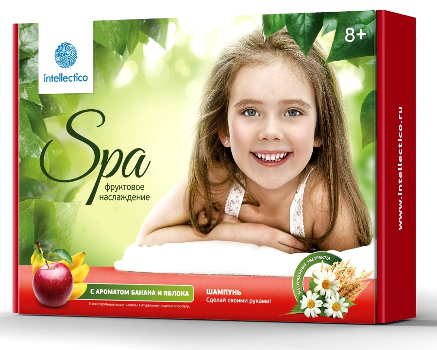 Купить Набор «Сделай своими руками» - Шампунь «Фруктовое наслаждение», с ароматом банана и яблока, Intellectico