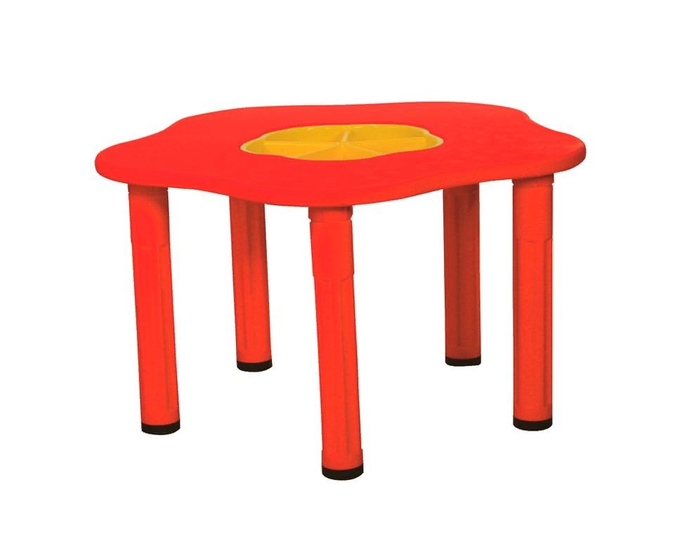 Купить Детский столик - Сэнди с системой хранения мелочей, цвет красный, King Kids