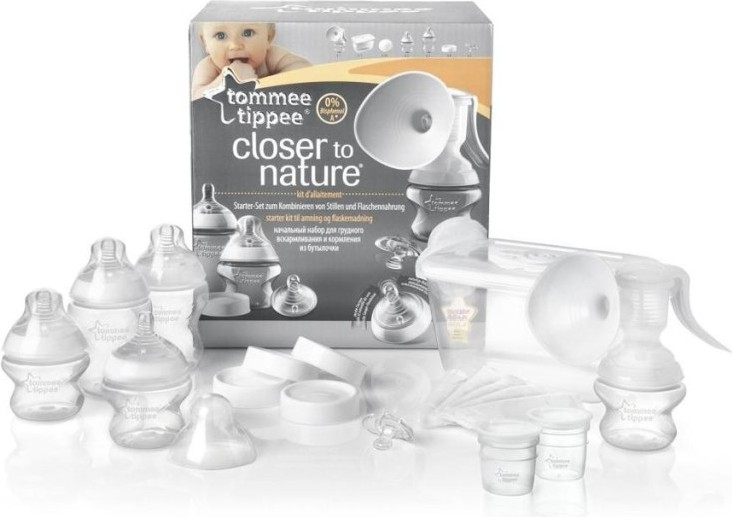 Молокоотсос ручной с набором для грудного вскармливания и стерилизатором - Товары для мамы, артикул: 163660