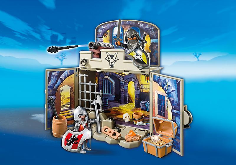 Игровой набор из серии «Возьми с собой» - Сокровищница рыцарейЗамки, рыцари, крепости, пираты<br>Игровой набор из серии «Возьми с собой» - Сокровищница рыцарей<br>