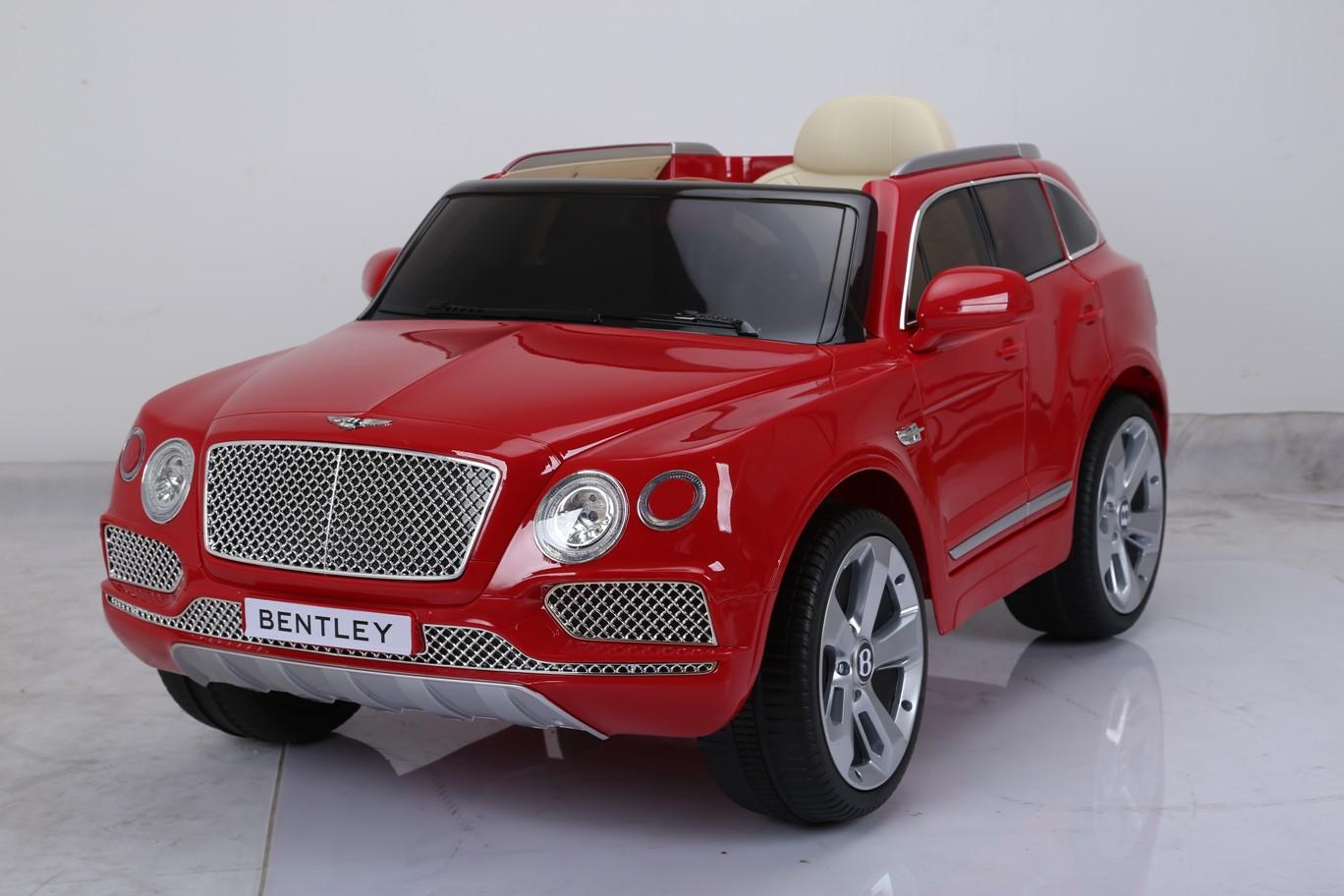Электромобиль - Bentley Bentayga, красныйЭлектромобили, детские машины на аккумуляторе<br>Электромобиль - Bentley Bentayga, красный<br>