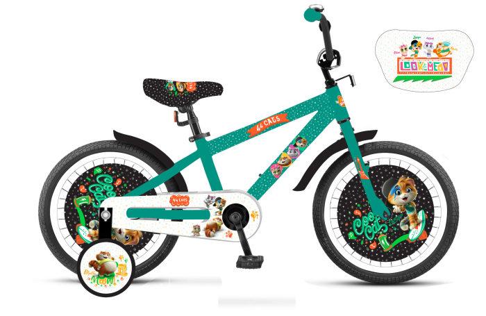 Детский велосипед из серии 44 Котенка, колеса 14
