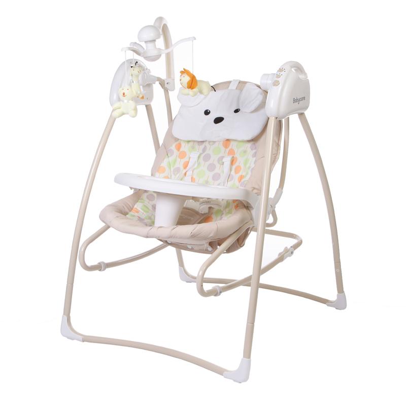 Электрокачели – Butterfly 2 в 1 с адаптером, бежевыеЭлектронные качели для детей<br>Электрокачели – Butterfly 2 в 1 с адаптером, бежевые<br>