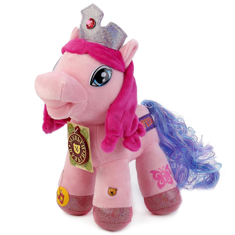Купить Озвученная мягкая игрушка – Пони Милашка, 23 см, Мульти-Пульти