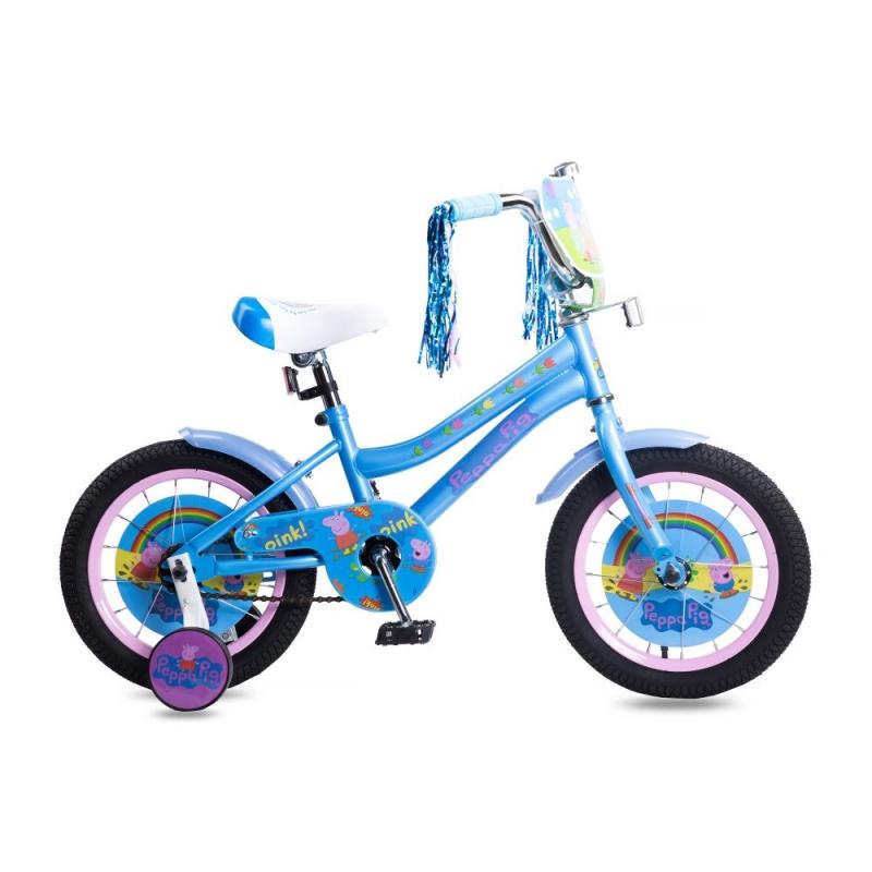 Купить Детский велосипед Navigator Peppa Pig, колеса 14 , стальная рама, стальные обода, ножной тормоз