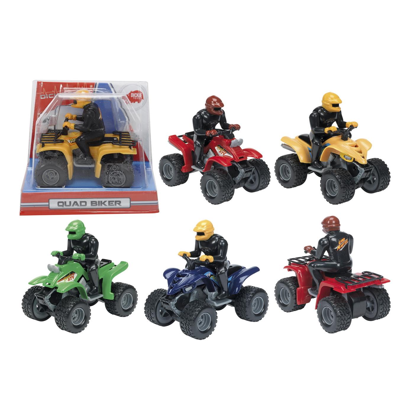 Квадроцикл с фигуркой водителя, 10 см., 6 видовДжипы<br>Квадроцикл с фигуркой водителя, 10 см., 6 видов<br>