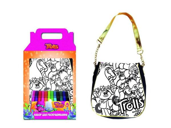 Набор для творчества Тролли - Раскрась сумкуСумки и  рюкзачки Simba Color Me mine<br>Набор для творчества Тролли - Раскрась сумку<br>