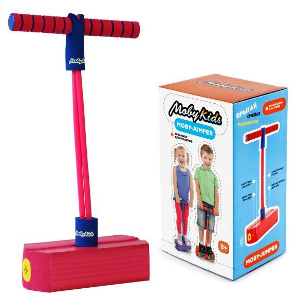 Купить Тренажер для прыжков со звуком MobyJumper, розовый, Moby Kids
