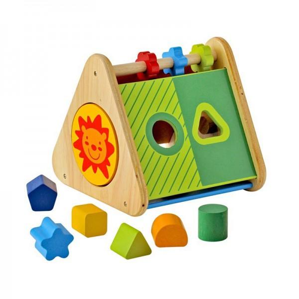 Деревянный сортер - Развивающий треугольникСортеры, пирамидки<br>Деревянный сортер - Развивающий треугольник<br>