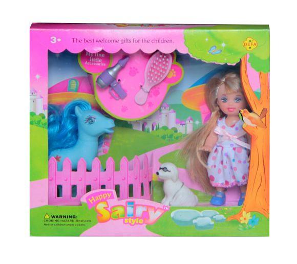 Кукла Defa - Малютка Sairy с пони, высота куклы 10 смКуклы Defa Lucy<br>Кукла Defa - Малютка Sairy с пони, высота куклы 10 см<br>