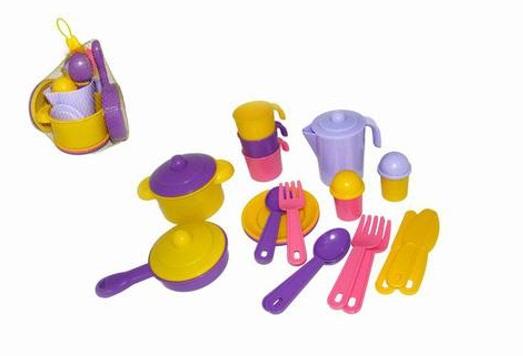 Купить Набор детской посуды Настенька на 3 персоны, Полесье