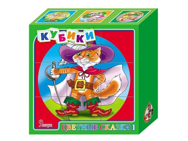 Детские кубики Цветные сказки 3Кубики<br>Детские кубики Цветные сказки 3<br>