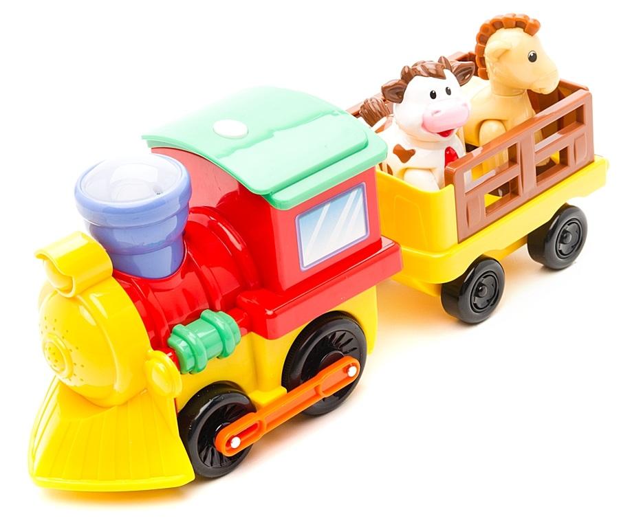 Развивающая игрушка «Поезд с животными» Kiddieland, KID 050096 - Железная дорога для малышей, артикул: 117665