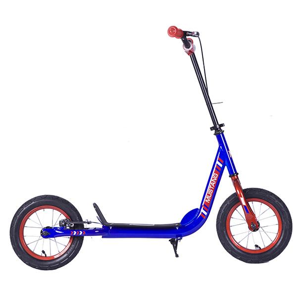 Купить Самокат 2-х колесный – Mustang, с надувными колесами, сине-красный