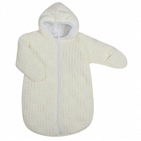 Спальный мешок вязанный из 100% акриловой пряжи, цвет – бежевыйДетские покрывала и пледы<br>Спальный мешок вязанный из 100% акриловой пряжи, цвет – бежевый<br>