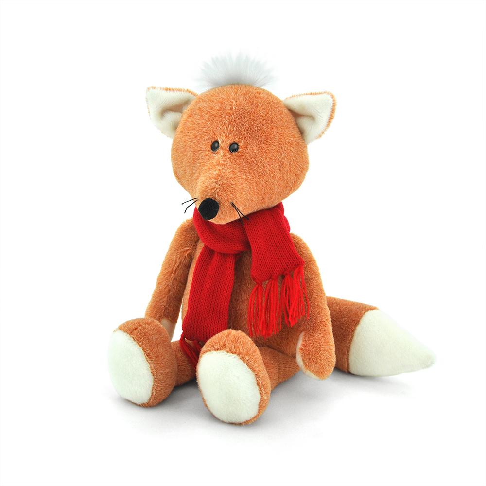 Мягкая игрушка - Лисёнок Рыжик в шарфикеЖивотные<br>Мягкая игрушка - Лисёнок Рыжик в шарфике<br>