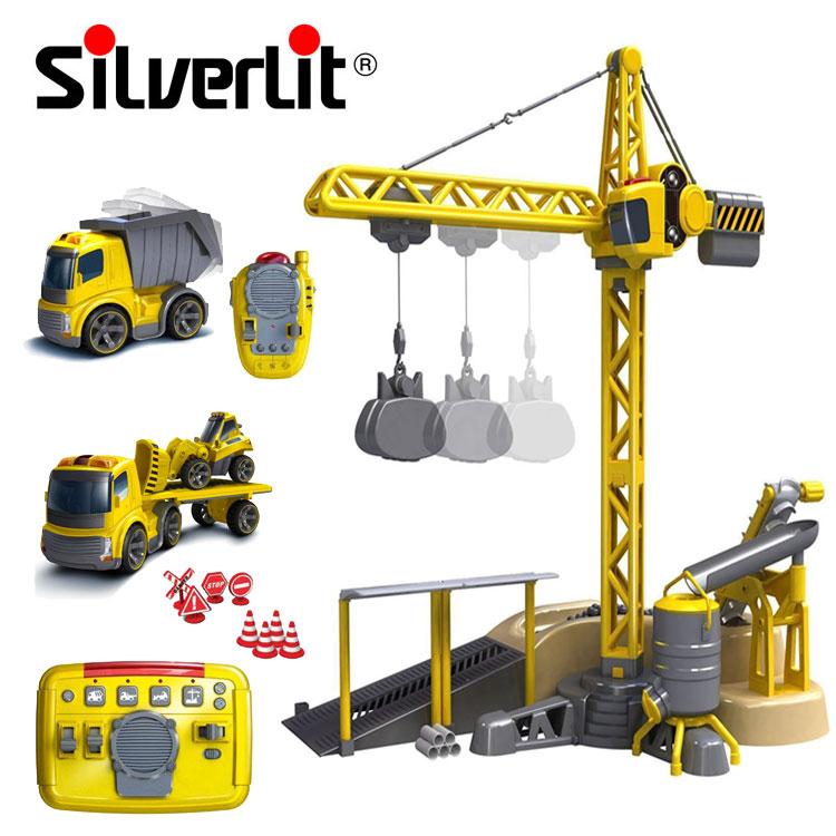 Набор Silverlit Мега стройка, свет, звукИгрушечные подъемные краны<br>Набор Silverlit Мега стройка, свет, звук<br>