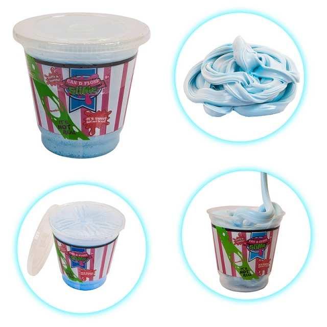 Слайм - жвачка для рук - Can D Floss Slime - Сахарная вата, цвет голубой
