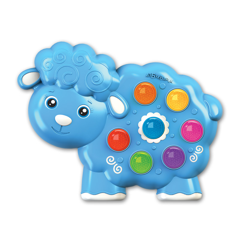 Купить Музыкальная игрушка из серии Веселушки – Овечка, свет и звук, Азбукварик