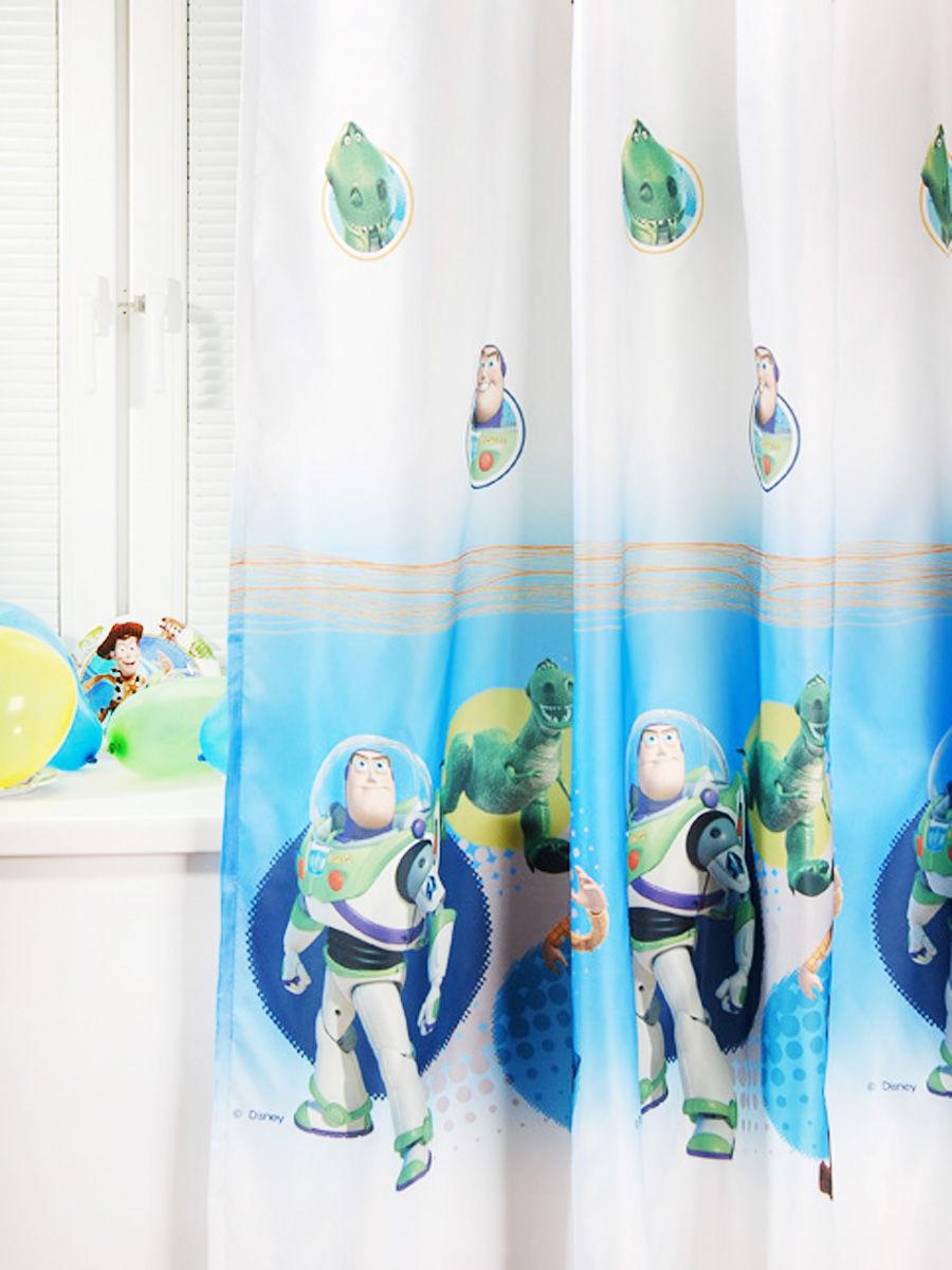 Портьера детская - Toy Story, белый фото