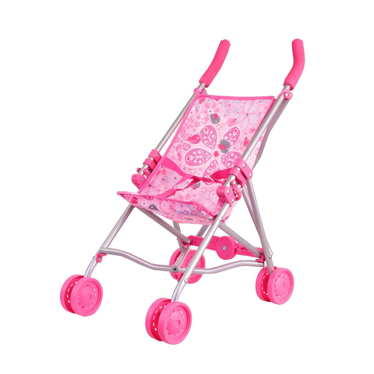 Коляска-трость розоваяКоляски для кукол<br>Коляска-трость розовая<br>