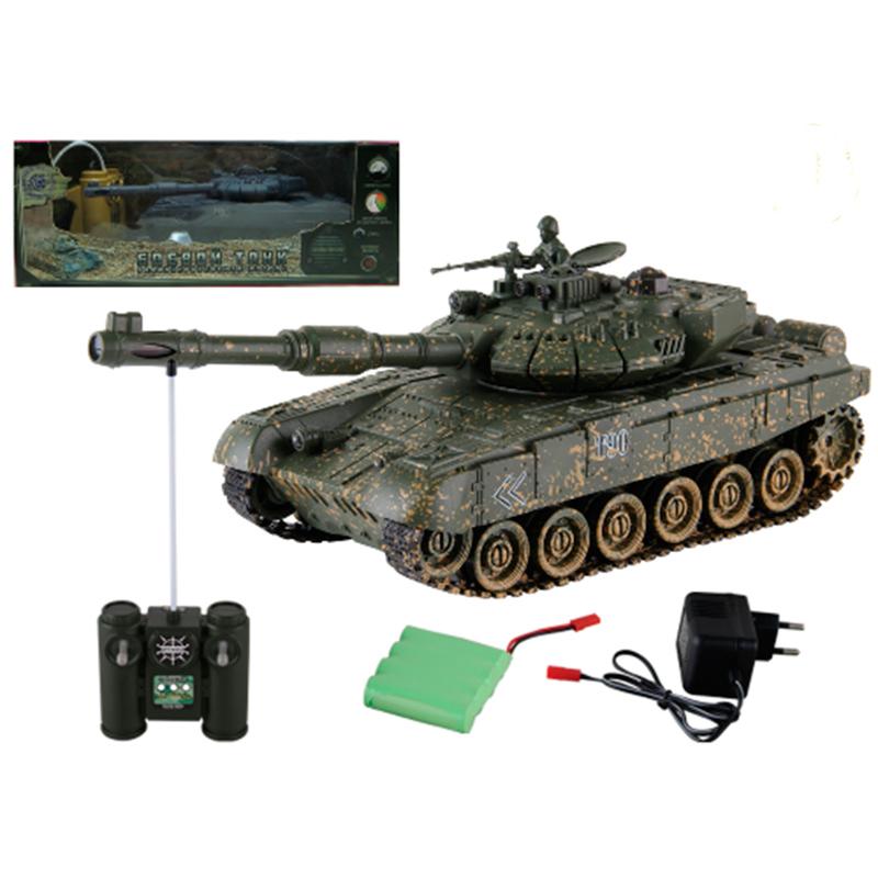 Купить Танк Т-90 на радиоуправлении, 1:24, свет и звук, Yako