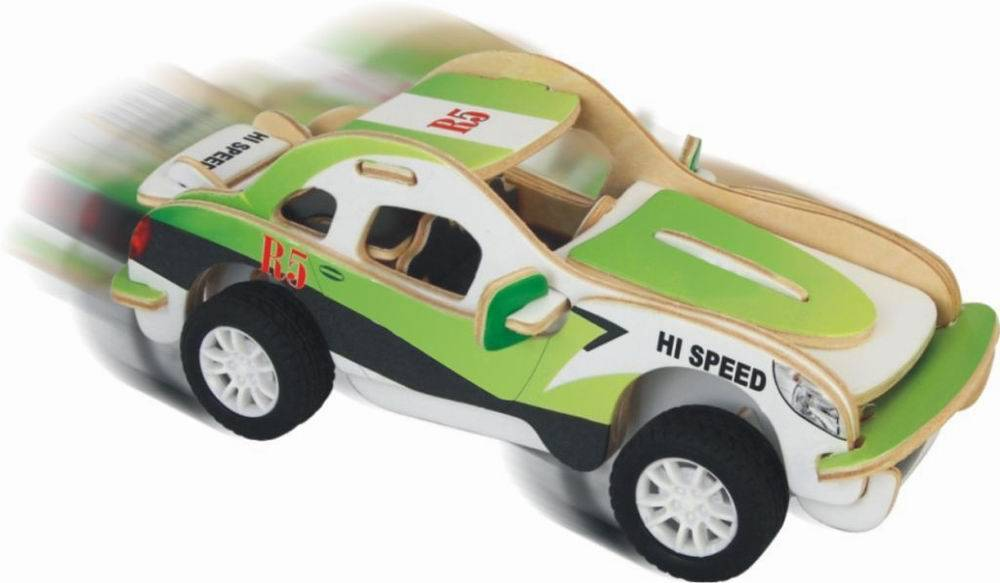 Модель деревянная сборная – Спорткупе, с механизмомПазлы объёмные 3D<br>Модель деревянная сборная – Спорткупе, с механизмом<br>