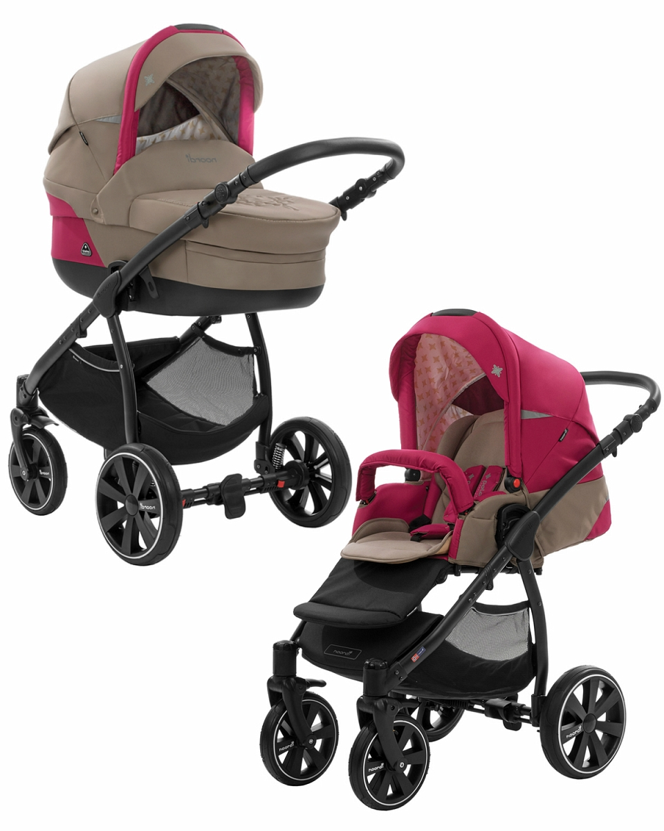 Коляска детская Noordi Polaris 2 в 1, шасси Sport, бежево-розоваяДетские коляски 2 в 1<br>Коляска детская Noordi Polaris 2 в 1, шасси Sport, бежево-розовая<br>