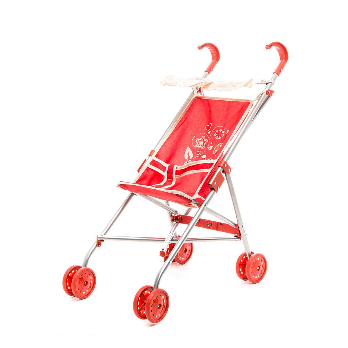 Игрушечная коляска-трость с тентом – Божья коровкаКоляски для кукол<br>Игрушечная коляска-трость с тентом – Божья коровка<br>