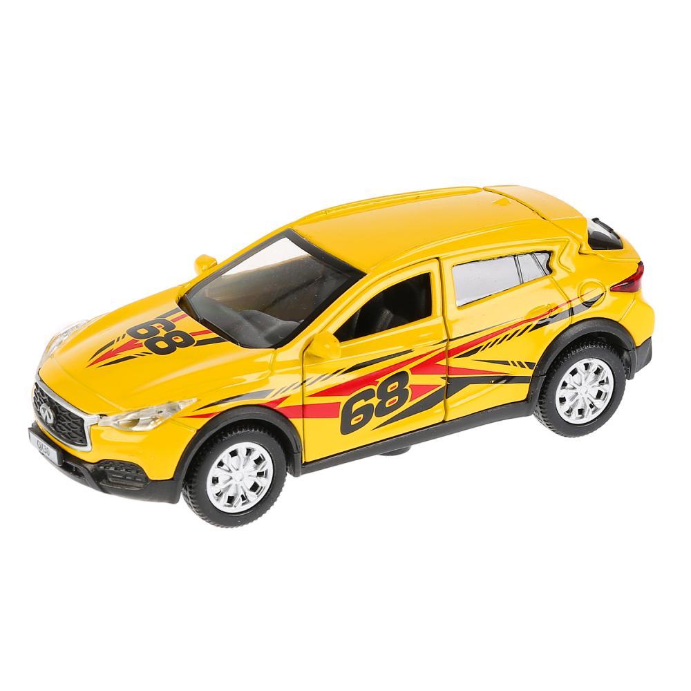 Купить Машина металлическая свет и звук Infiniti Qx30 Спорт, 12 см, открываются двери, инерционная, Технопарк