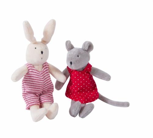 Купить Мягкие игрушки – Нини и Сильван в домике, Moulin Roty