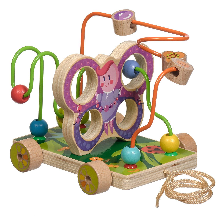 Купить Лабиринт-каталка - Бабочка малая, Мир деревянных игрушек